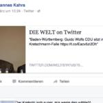 Johannes Kahrs Facebook