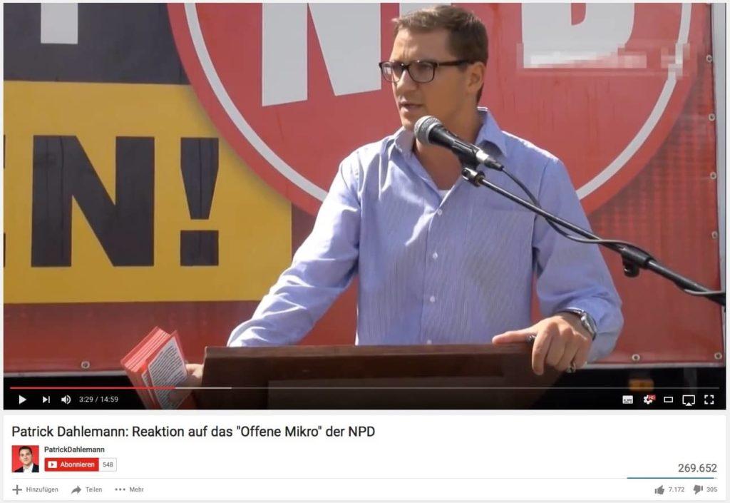 Das ist Courage - Patrick Dahlemann vor der NPD