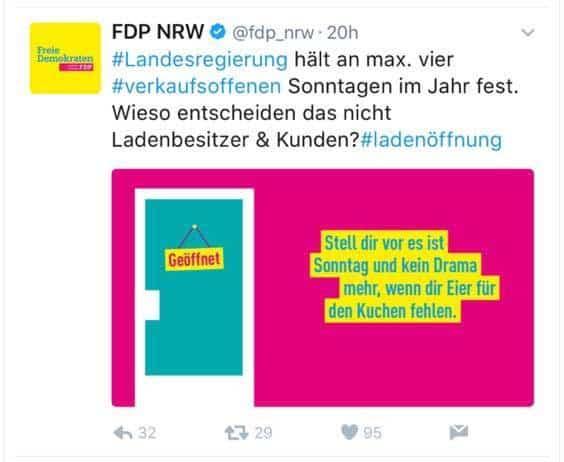 Beispiel für Storytelling von der FDP