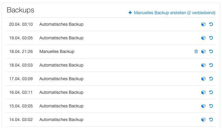 Backup für WordPress Hosting mit Raidboxes