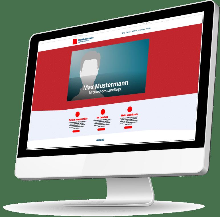 Webseiten für Parteien und Politiker