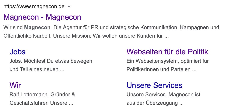 Search Anzeige von Google Ads - Ads für Politik und Wahlkampf