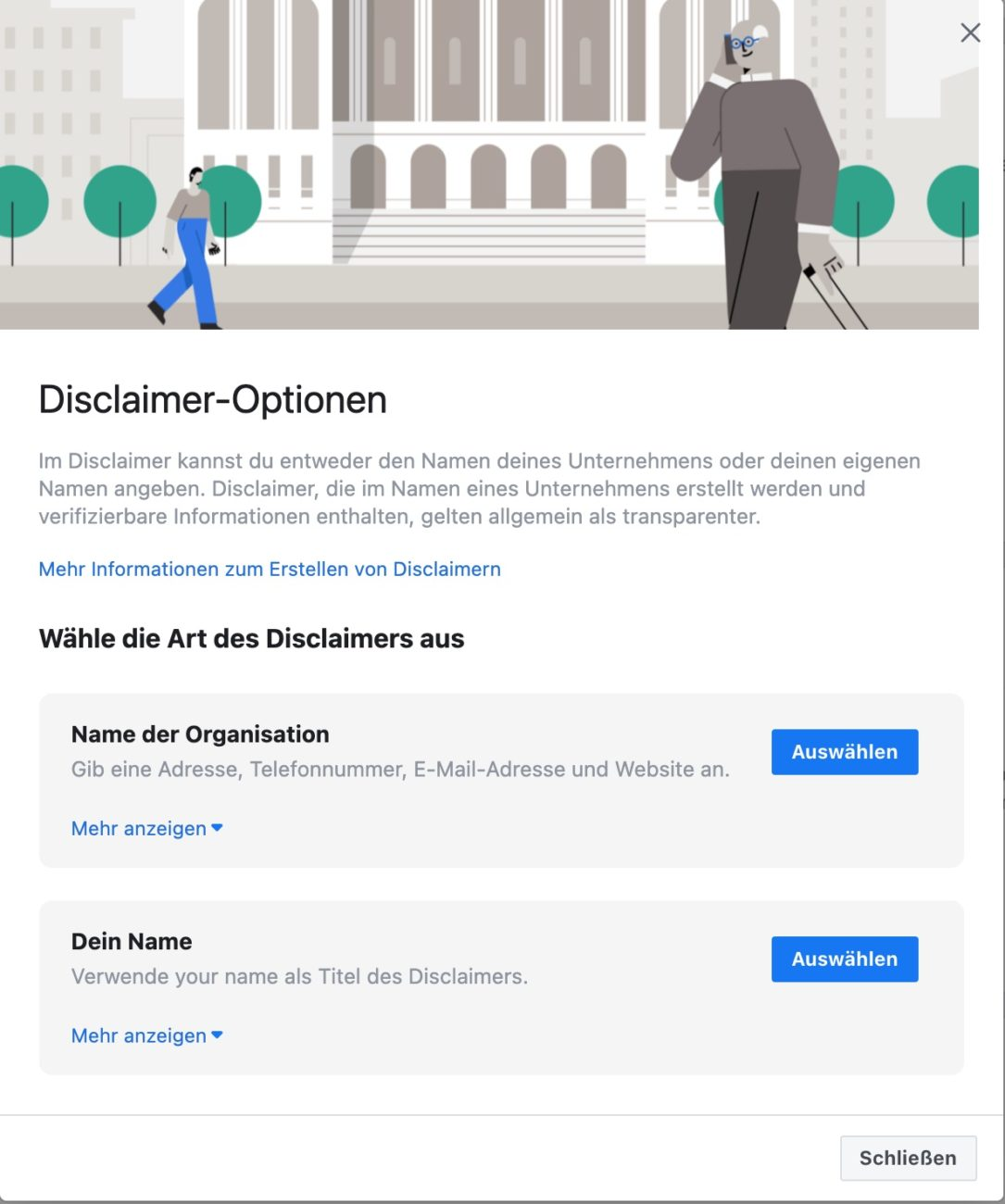 Anleitung Facebook für politische Werbung verifizieren - Disclaimer erstellen