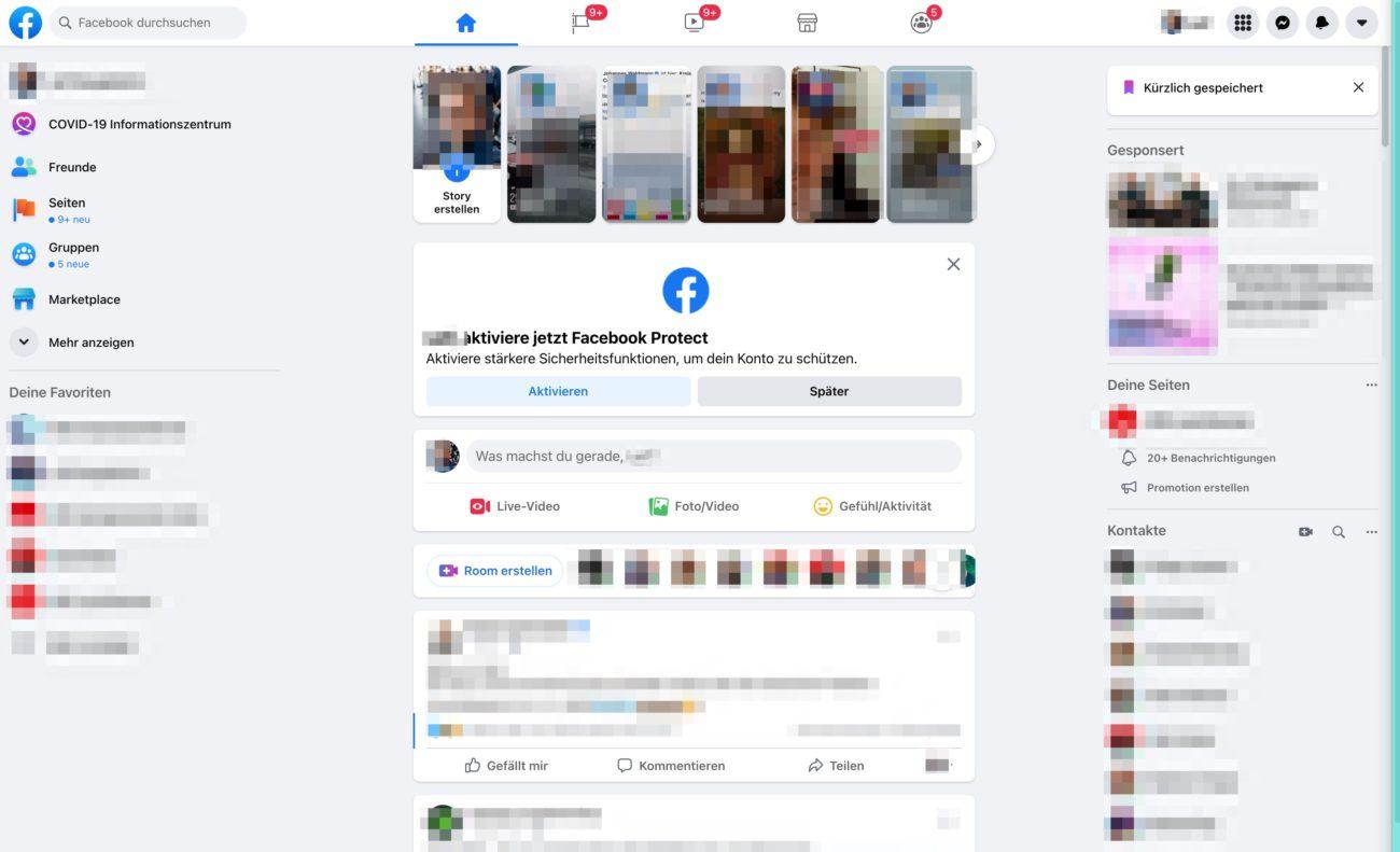 Facebook Protect - Einladung