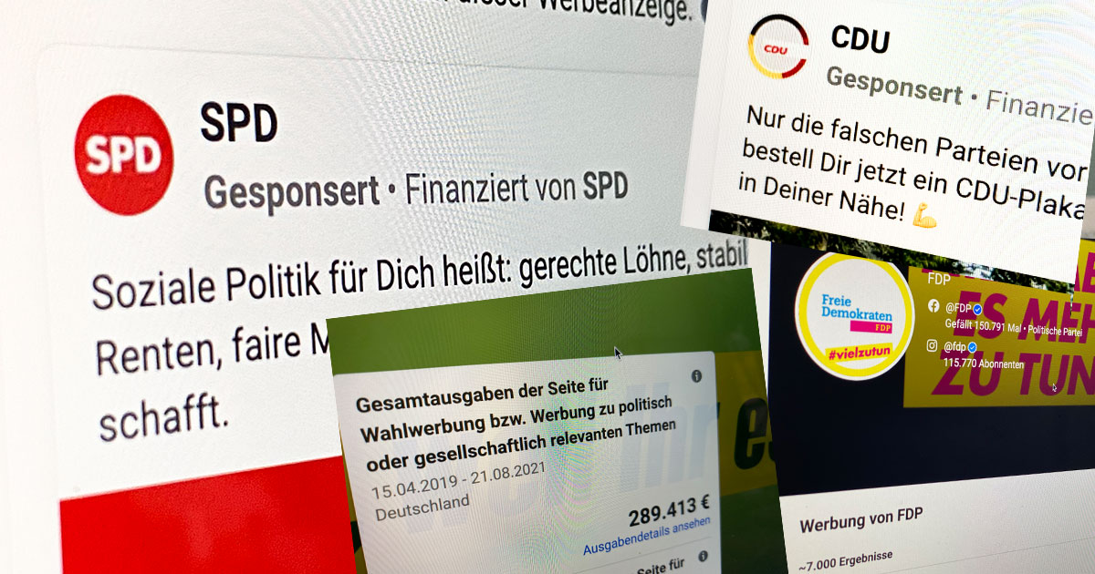 Bundestagswahl Ausgaben Facebook-Werbung